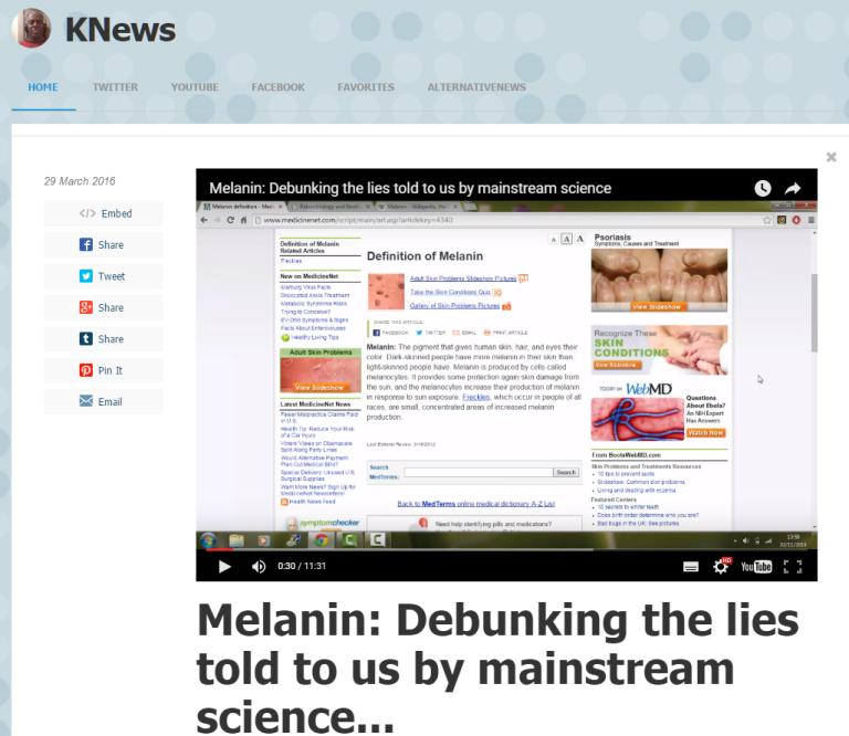 Melanin Debunked
